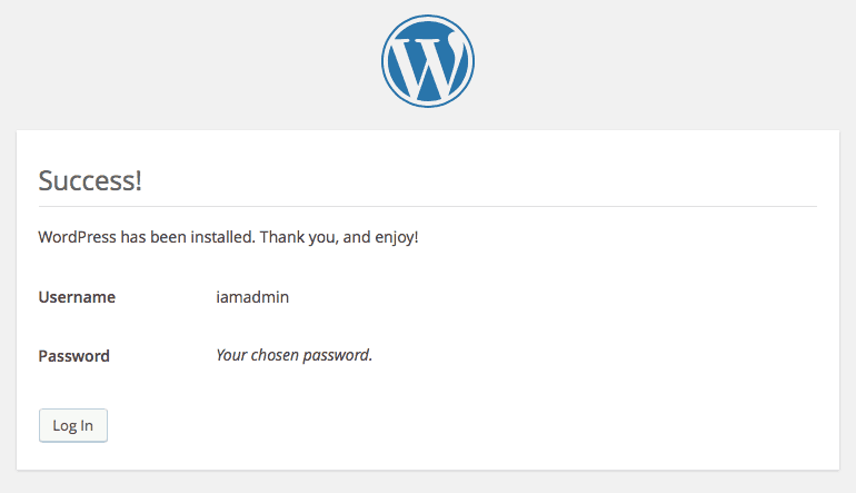 WordPress Setup Step 3