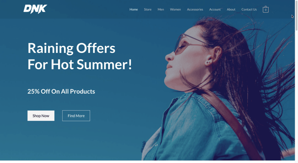 Astra WooCommerce Site 1