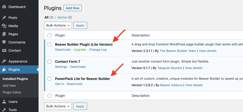 Beaver Builder PowerPack Plugins Installed