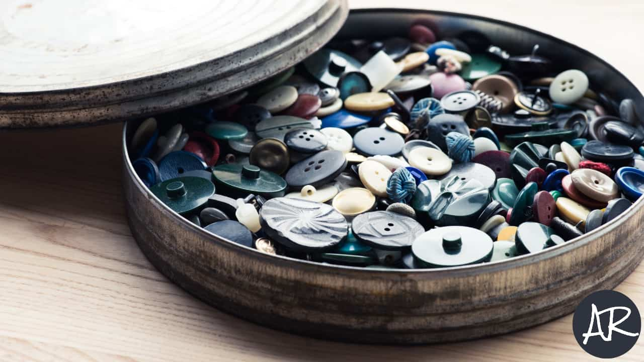 Image of buttons in a box